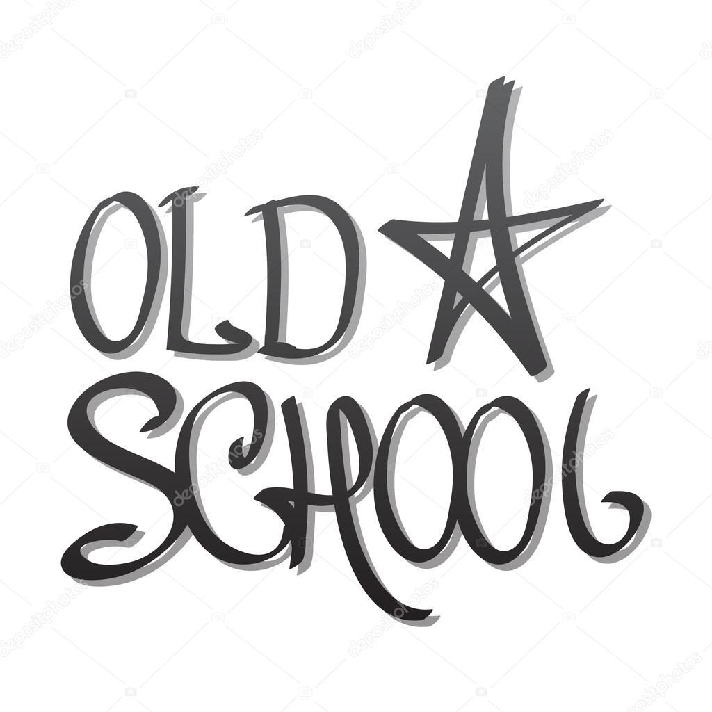 Populaire school, lettrage de dessin de la main — Image vectorielle #116117324 VJ78