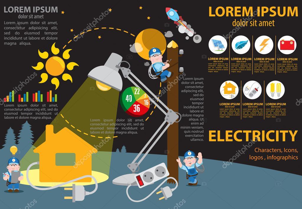 Elektrische Energie in unserem Leben, Symbole und Zeichen ...