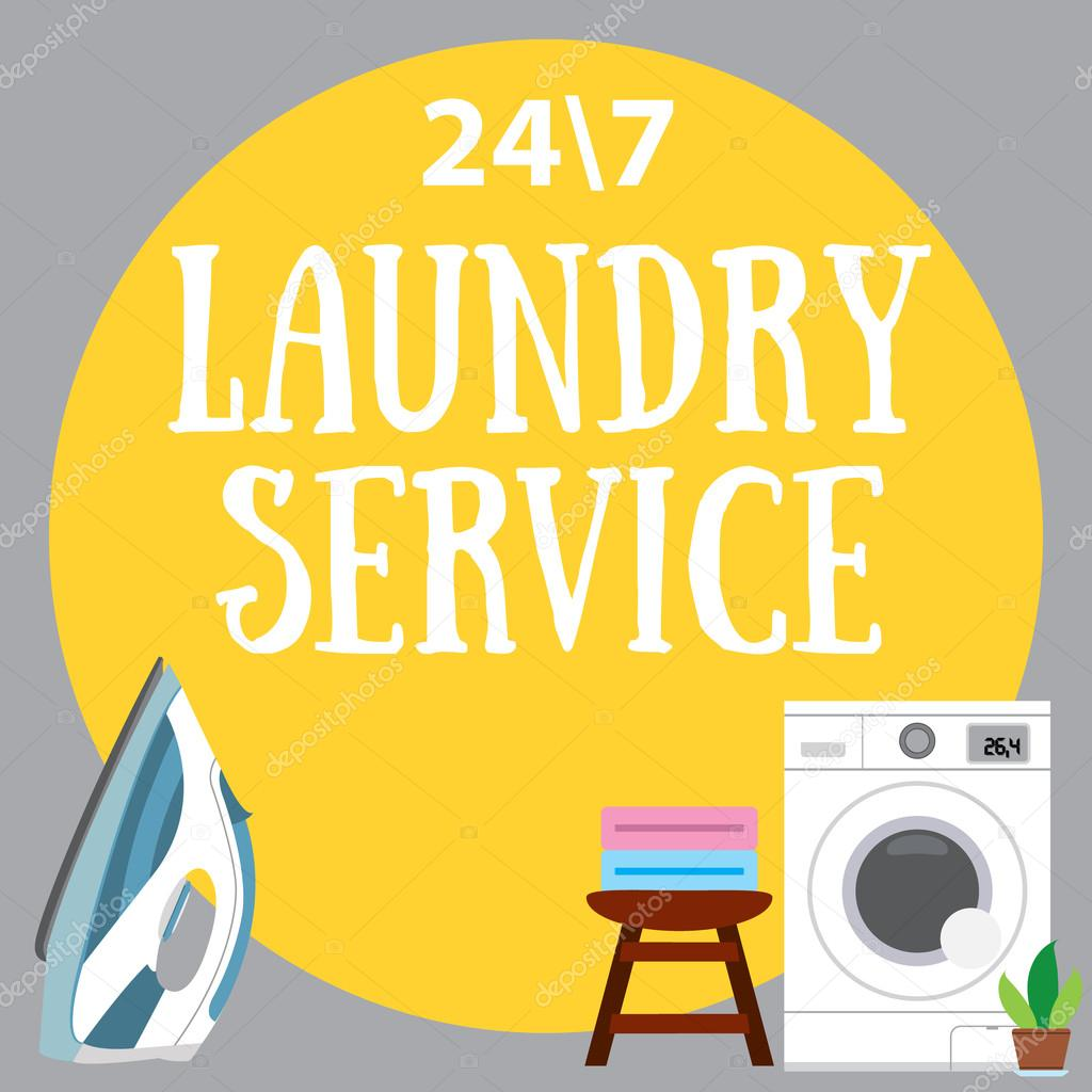 laundry service  poster advertising cleaning services