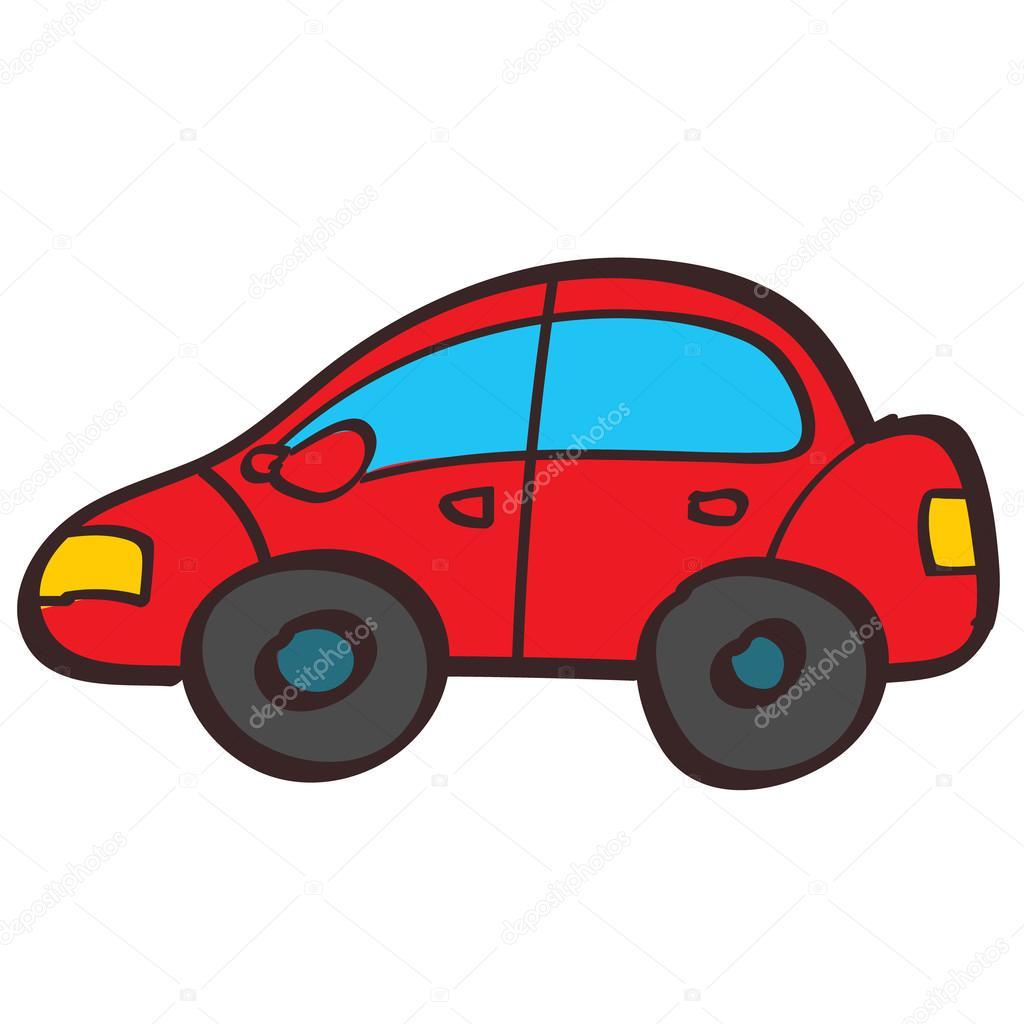 illustration de couleur de voiture rouge style de dessin la main image vectorielle filkusto. Black Bedroom Furniture Sets. Home Design Ideas