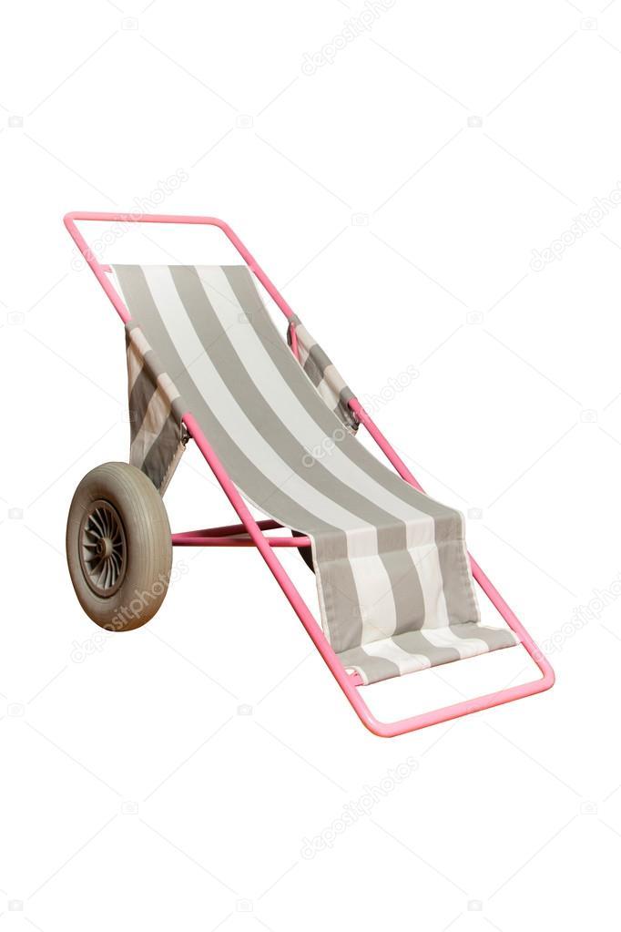 Sedia Sdraio Con Ruote.Sedia A Sdraio Con Ruote Per Persone Con Disabilita Foto Stock