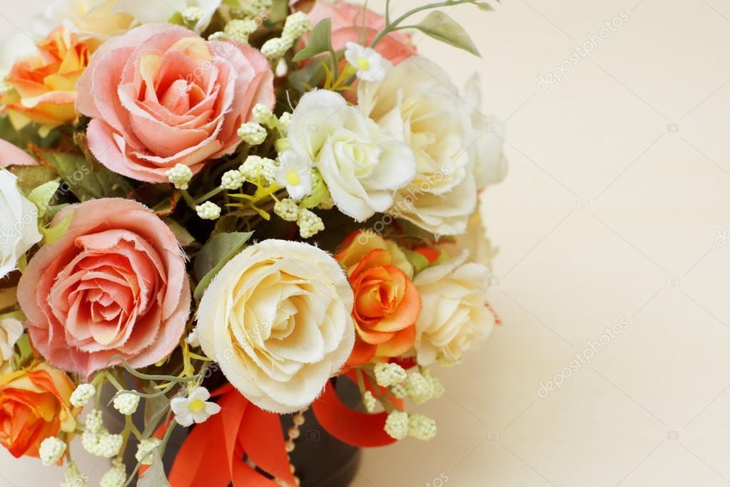 Beautyful artificial flowers.