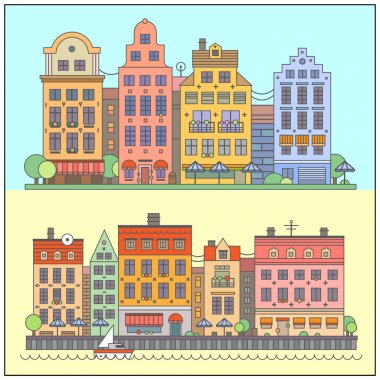 European street landscape