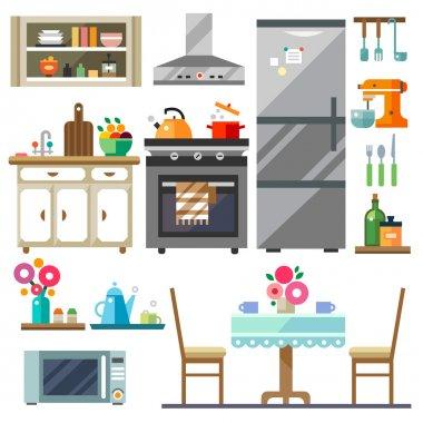 Home furniture. Kitchen interior design