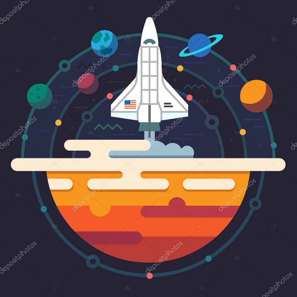 Space illustration. Planets of solar system