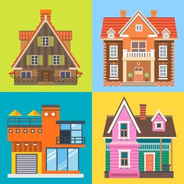 Various buildings house
