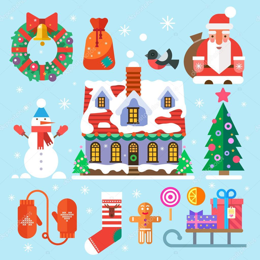 Symbols of new year and christmas stock vector tastyvector symbols of new year and christmas stock vector biocorpaavc