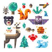 Fotografia Icone di foresta, proporzioni geometriche