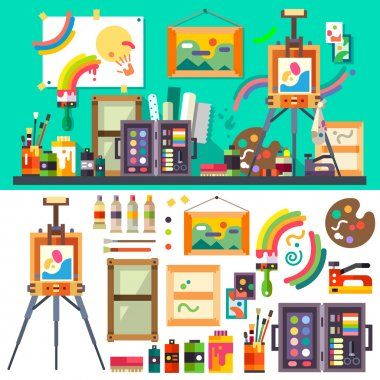 Art studio, tools for creativity and design
