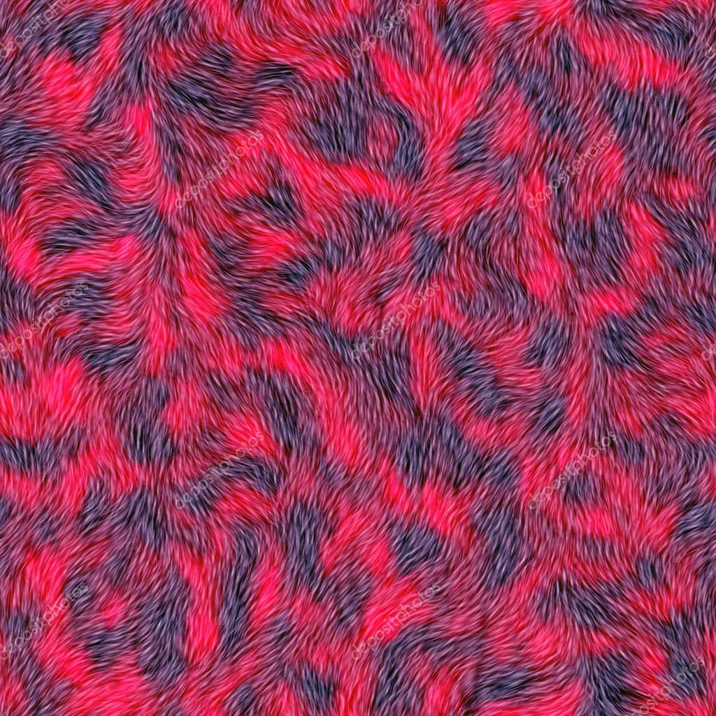 Unique Seamless red fur background. Carpeting. A high resolution. — Stock  WM43