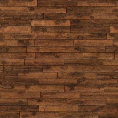 Seamless dark chestnut laminate flooring texture background.