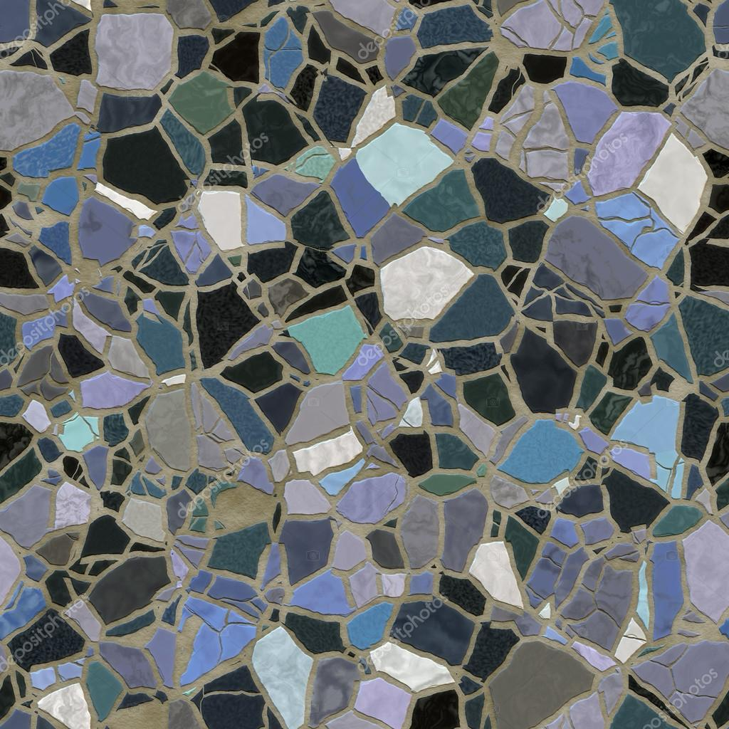 Seamless Colored Mosaic Background Texture Of Broken