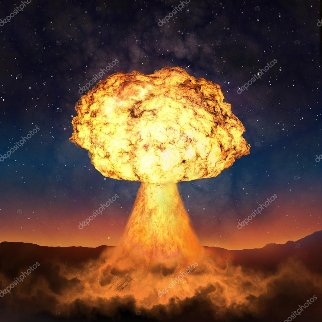 powerful explosion of nuclear bomb nuclear war a high resoluti