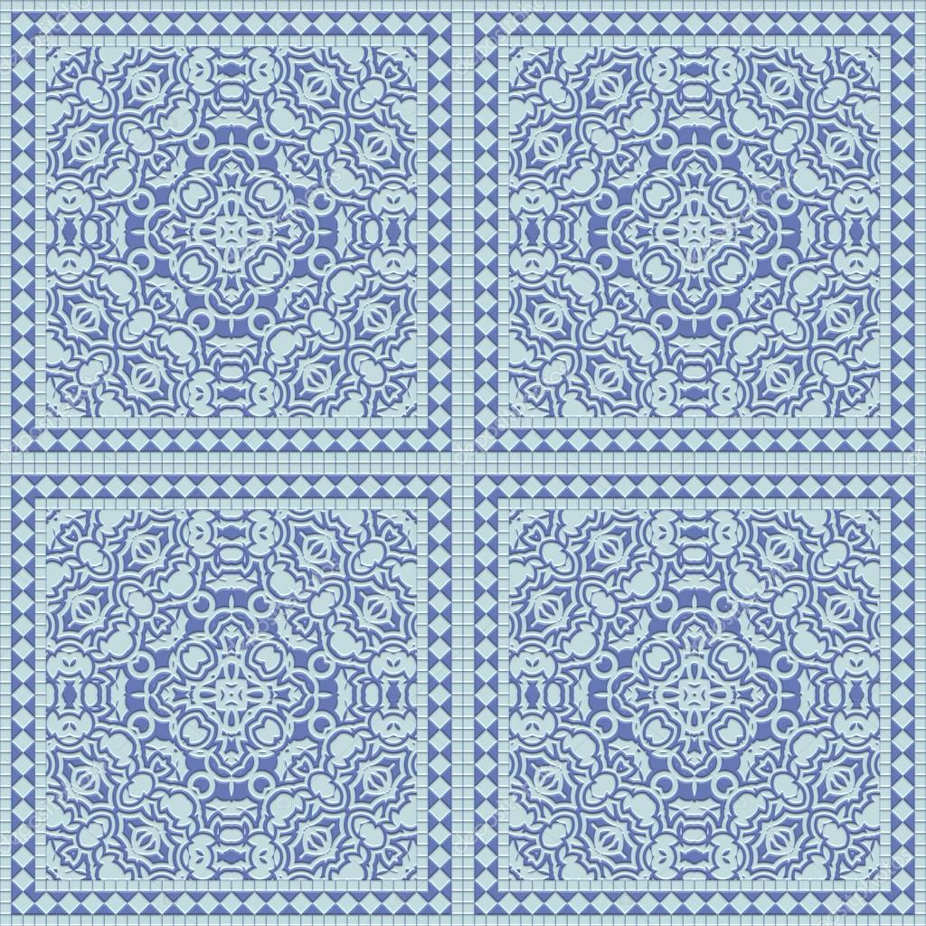 Seamless blue tile with a matte pattern. A high resolution. — Stock ...