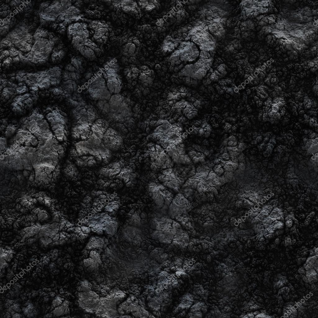 Seamless texture of the ground Frozen lava and mud Stock Photo