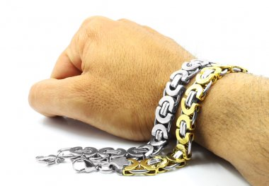 Men's massive bracelets, stainless steel