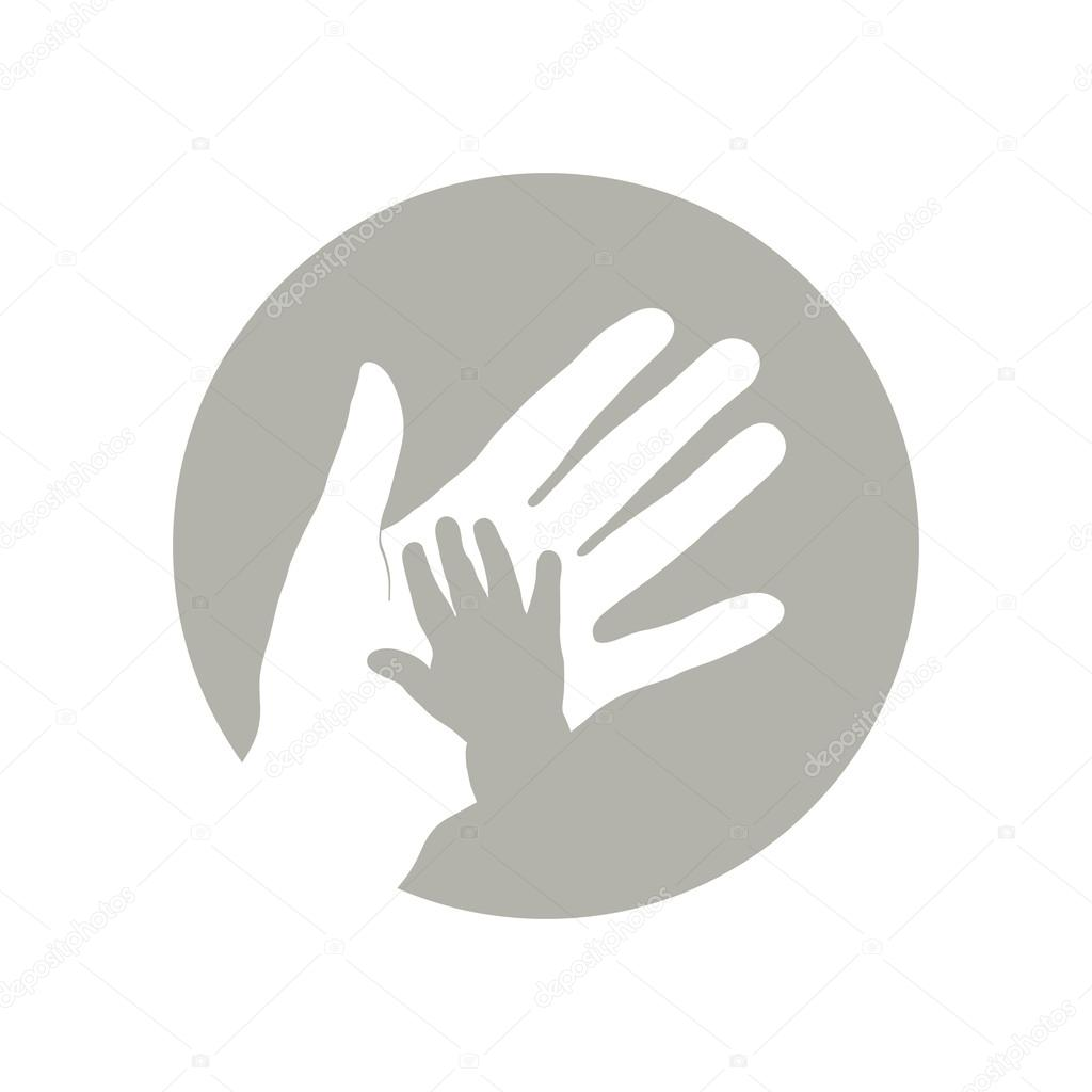 Childs and mothers hand. — Stock Vector © bolotoff #105652094