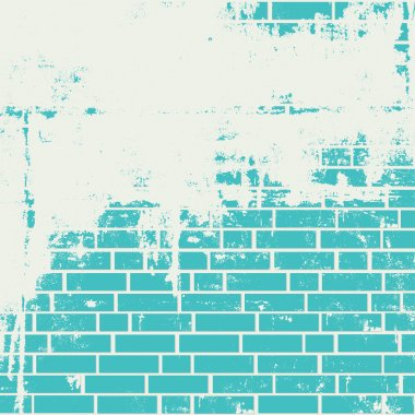 Plastered brick wall.