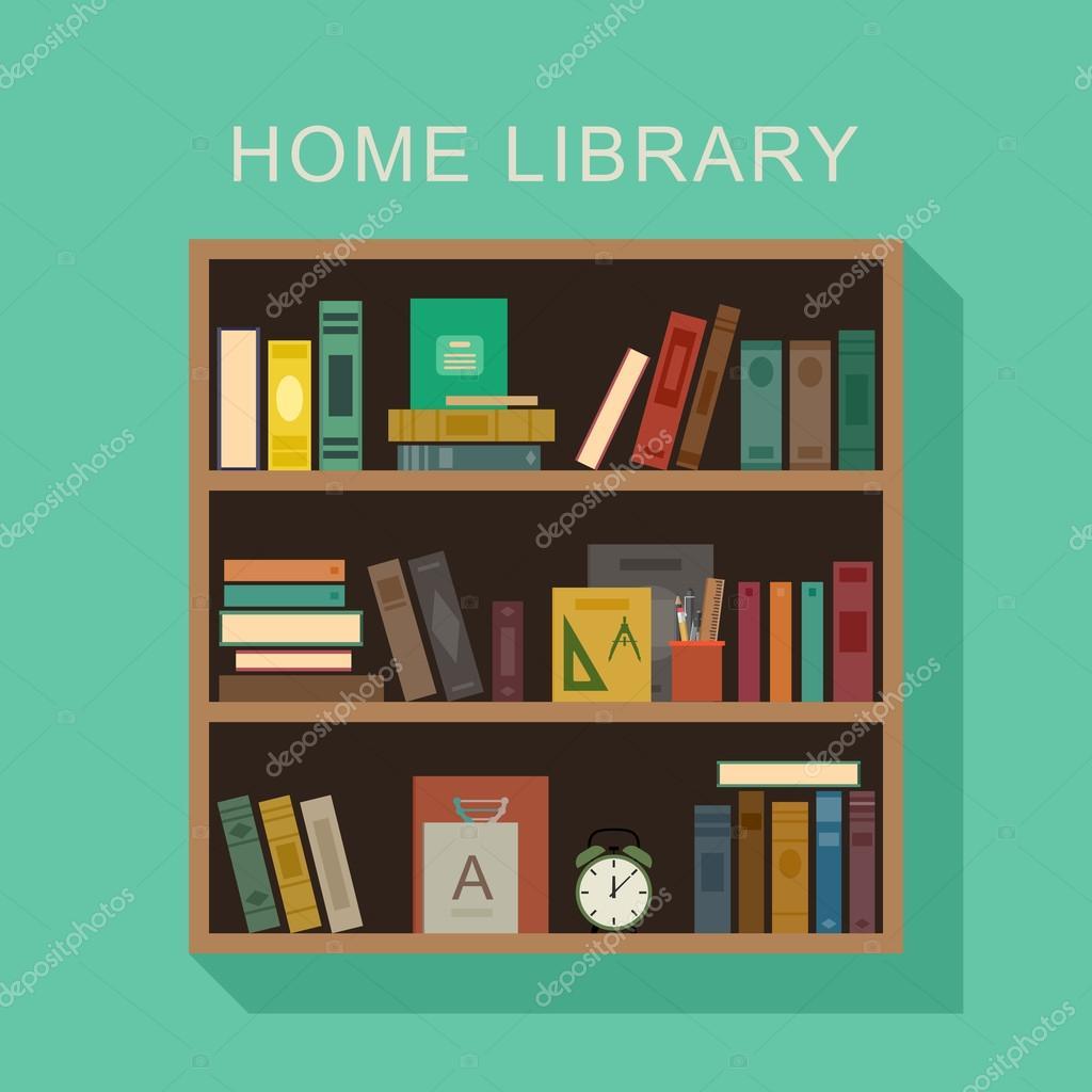 biblioth que de la maison image vectorielle bolotoff. Black Bedroom Furniture Sets. Home Design Ideas