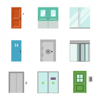 Set of doors icons.