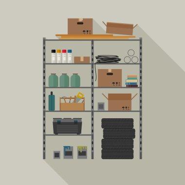 Metal storage vector illustration.