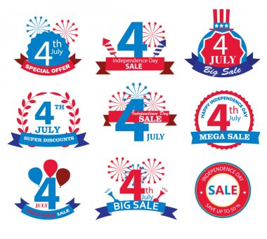 4th july Independence Day sale tags