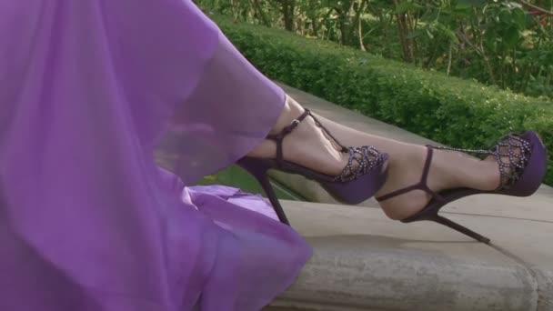 Beautiful girls legs in shoes