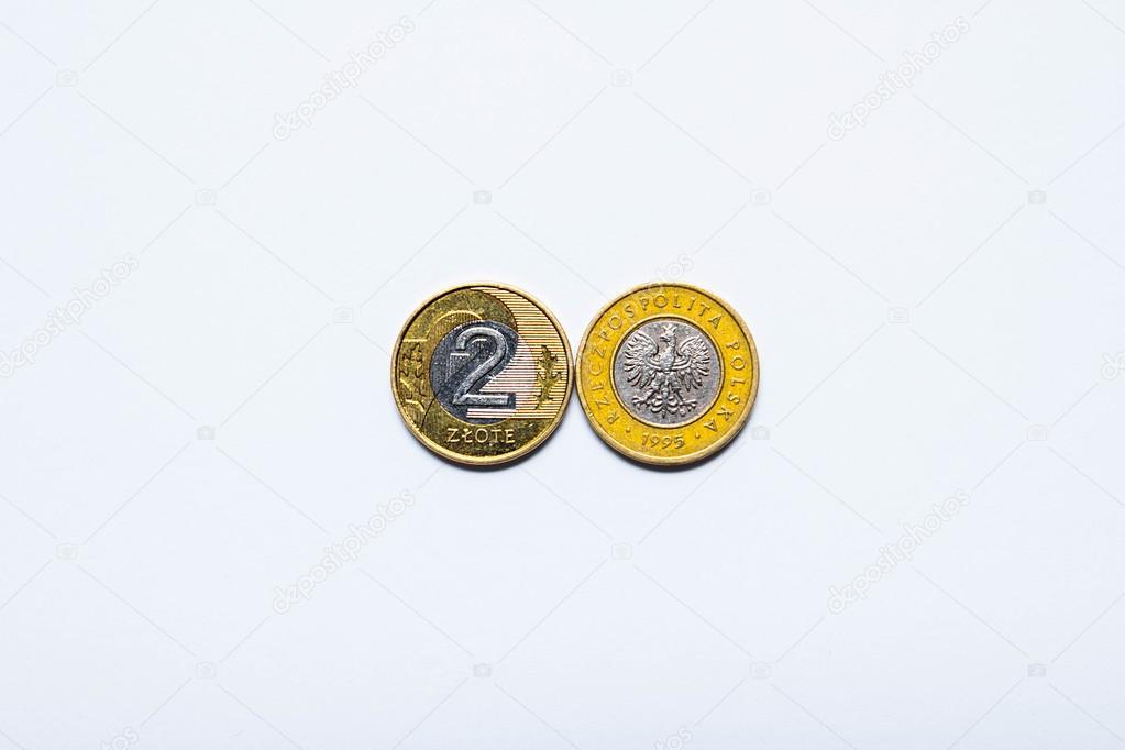 Polnische Geld Münzen Europäische Gelder Stockfoto 101238052
