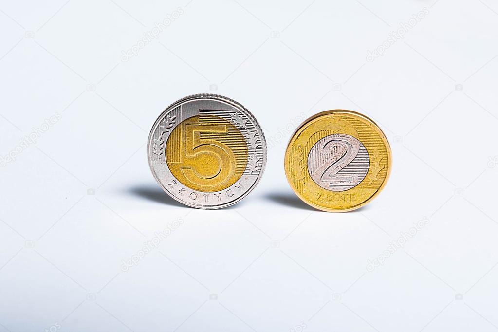 Polnische Geld Münzen Europäische Gelder Stockfoto Foto