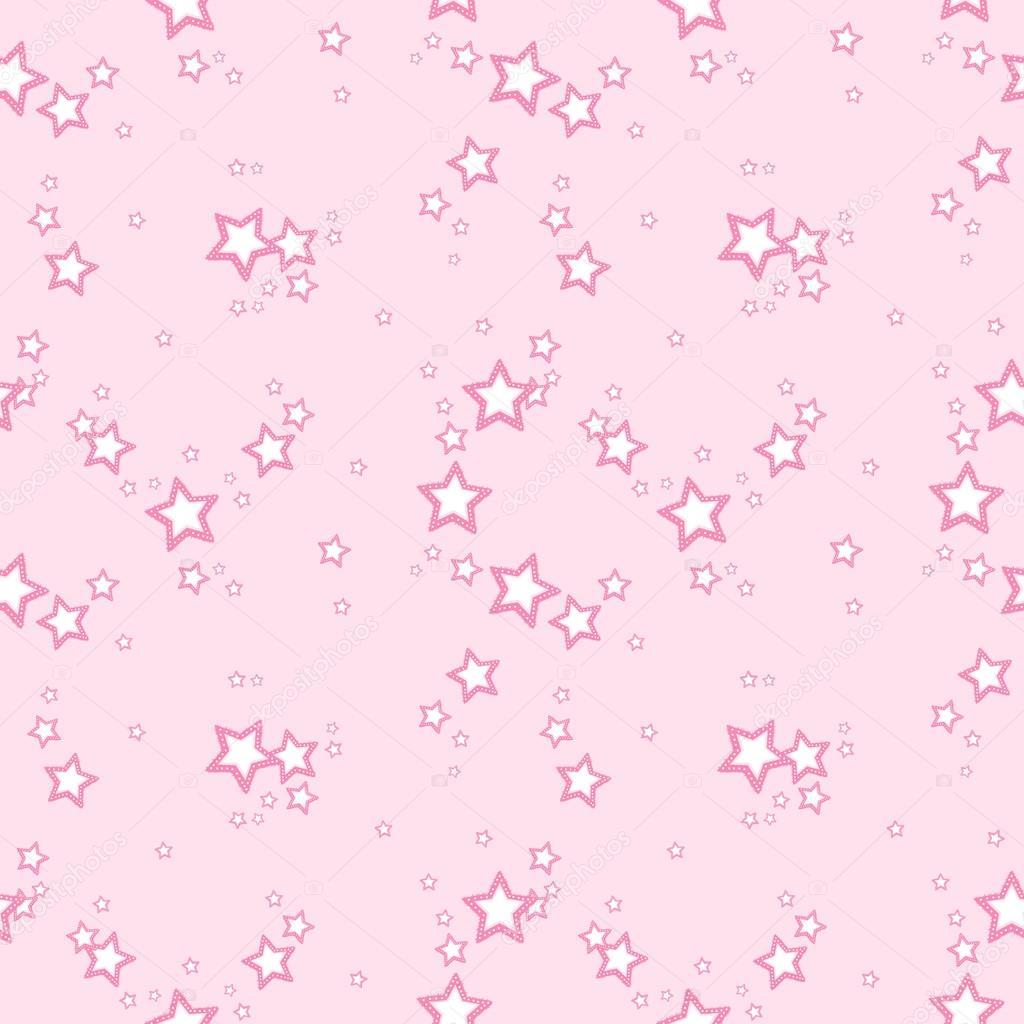Fondo de vector con estrellas color rosa — Archivo Imágenes ...