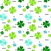 Pattern with four leaf clover leaves