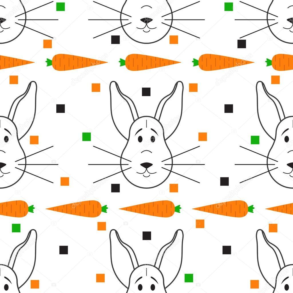patrón de conejo sin costuras — Archivo Imágenes Vectoriales ...
