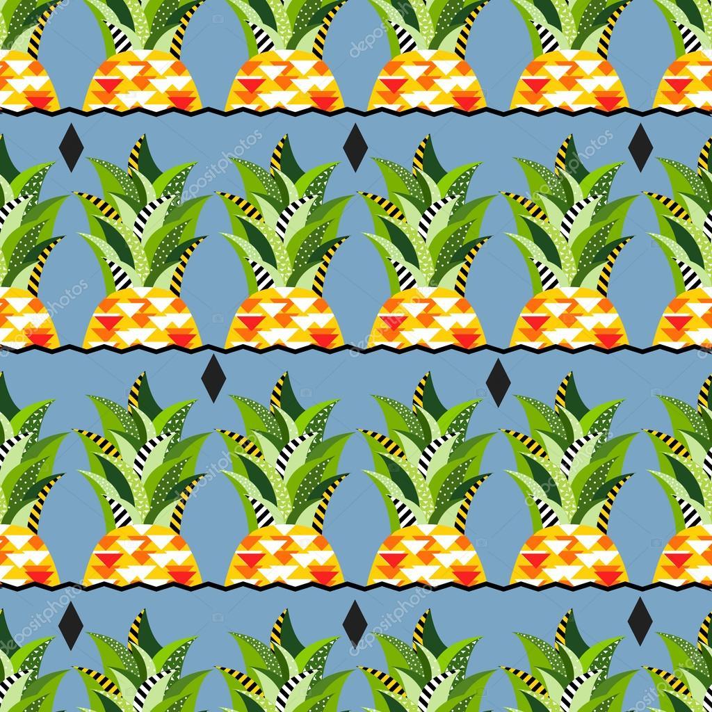 Seamless vector pineapple pattern