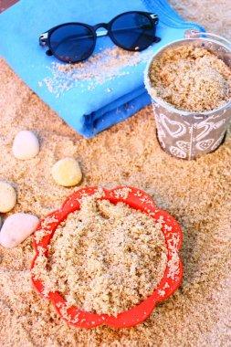 Sand,sea,and pebbles