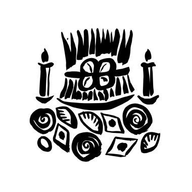 Novruz holiday symbols