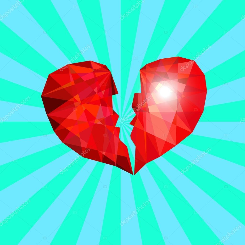 Symbol of broken heart like diamond in blue background stock symbol of broken heart like diamond in blue background stock vector buycottarizona