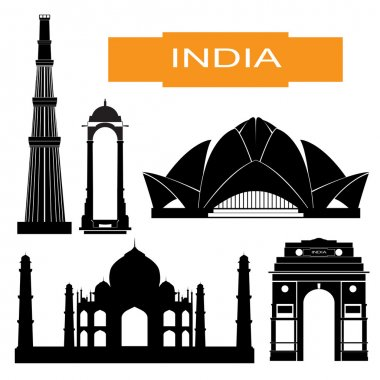 Indian main attraction silhouettes