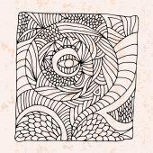 Zentangle con occhio e astratto fiore