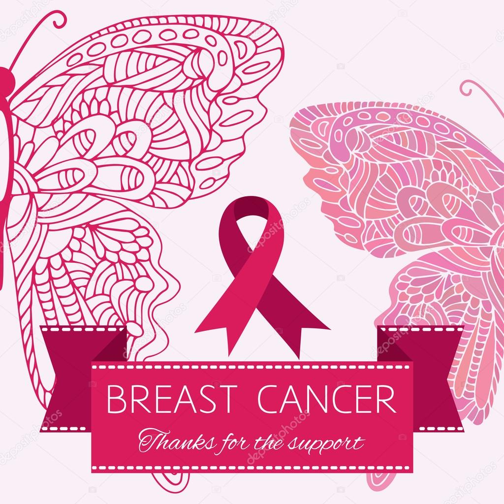 Symbol Of Breast Cancer Woman Support Stock Vector Naniti 96757900