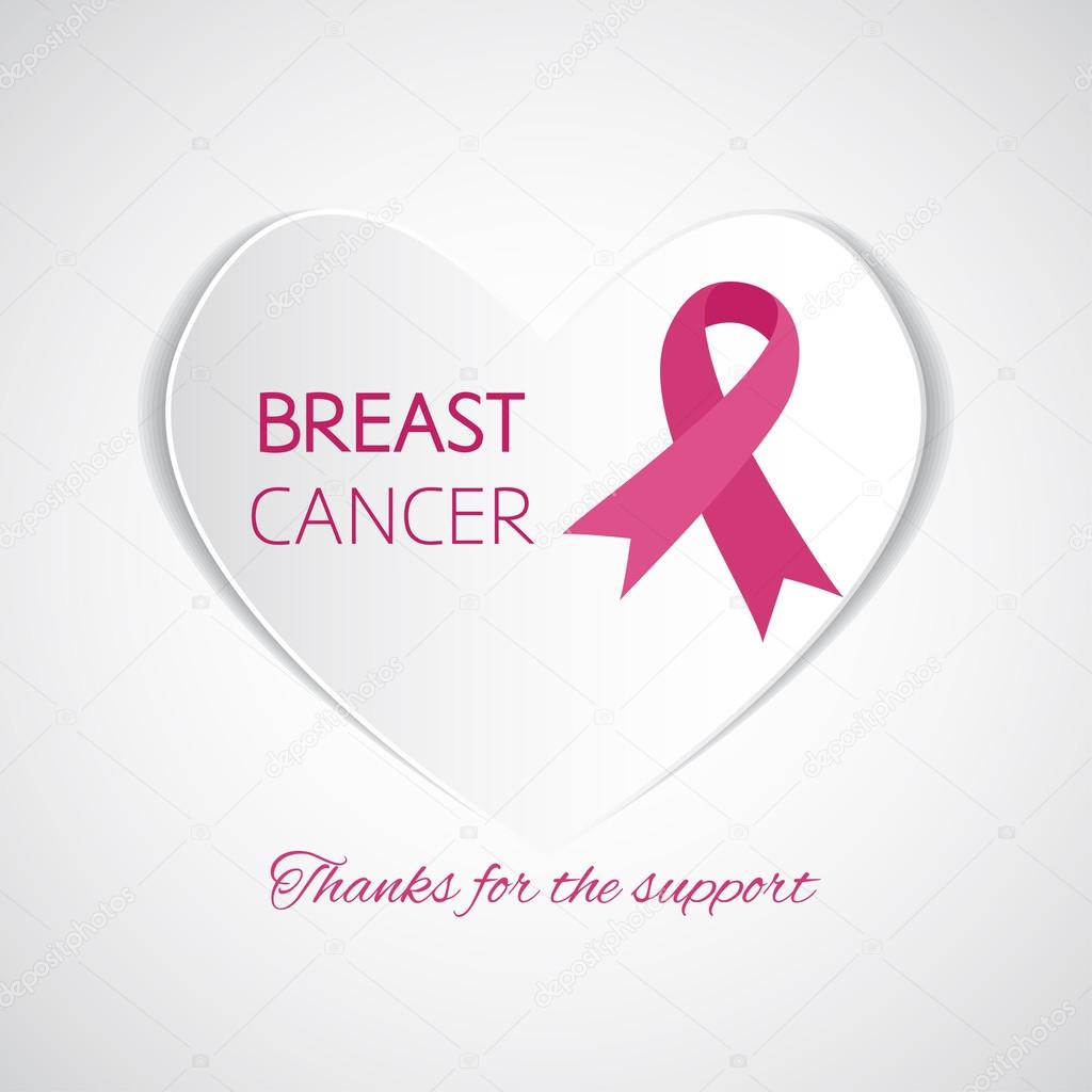 Symbol Of Breast Cancer Support Stock Vector Naniti 96762670