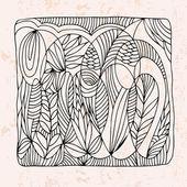 Zentangle con differenti del fiore astratto