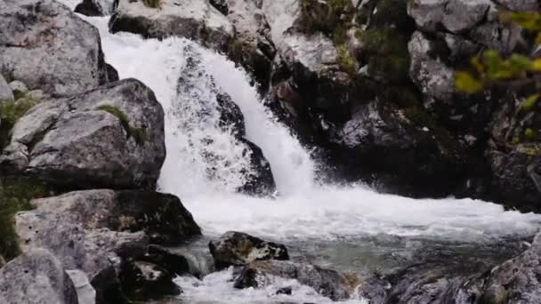 footage of small waterfall in rocks
