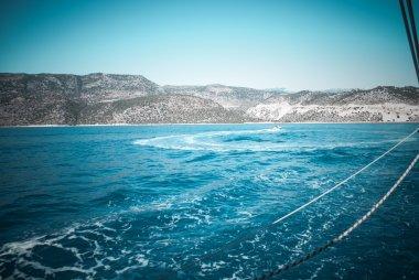 "Картина, постер, плакат, фотообои ""морской пейзаж с горами "", артикул 107559690"