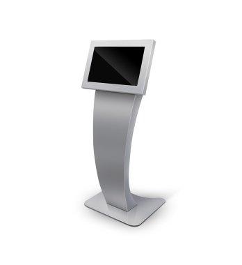 Interactive Information Kiosk Terminal Stand