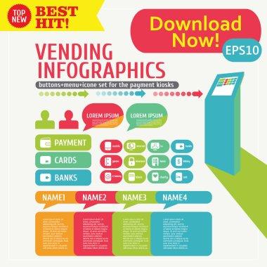 Infographic menu Kiosk Stand