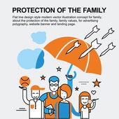 Fényképek A család fogalma védelme