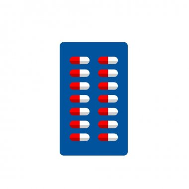 Capsule Packaging Flat Icon Isolated in White icon