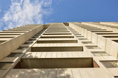 Condo buildings with balconies in Montreal