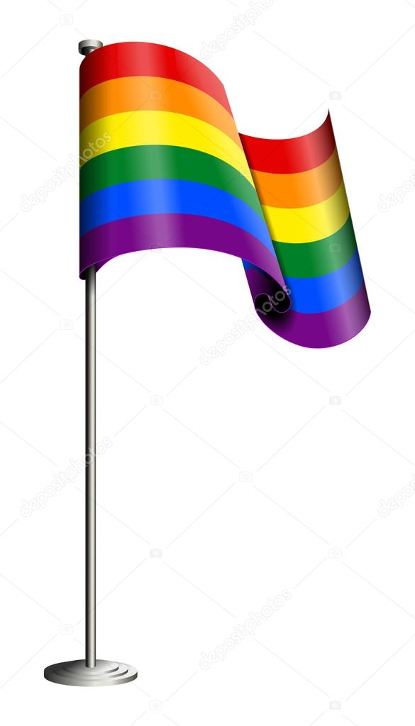bandera orgullo gay vector