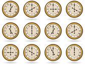 Fotografie Satz der Antike Uhren mit römischen Zahlen